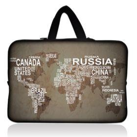 """Taška Huado pro notebook do 15.6"""" Mapa světa"""