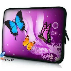 """Pouzdro Huado pro notebook do 17.4"""" Motýlci ve fialové"""