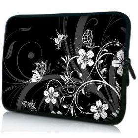 """Pouzdro Huado pro notebook do 17.4"""" Květiny a motýlci"""