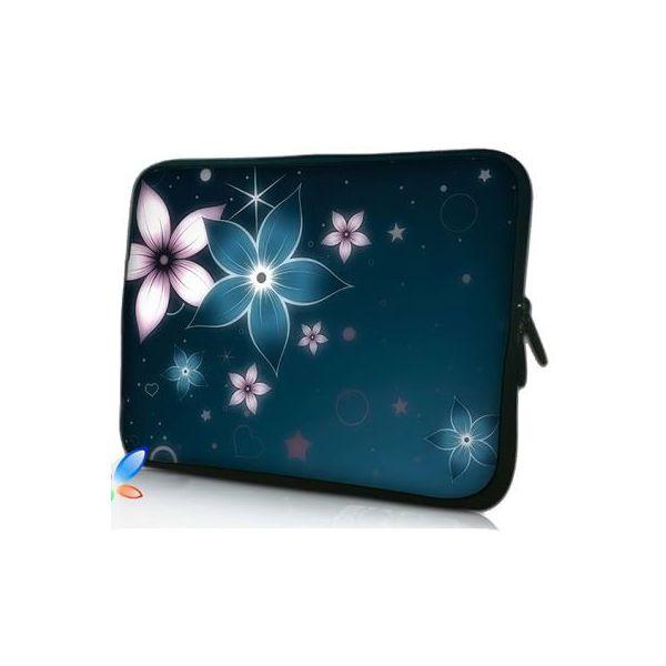 """Pouzdro Huado pro notebook do 17.4"""" Modré kvítí"""