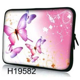 """Pouzdro Huado pro notebook do 17.4"""" Růžový motýlci"""