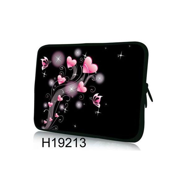 """Pouzdro Huado pro notebook do 17.4"""" Růžové srdíčka"""