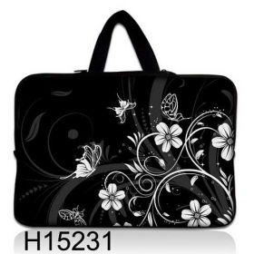 """Taška Huado pro notebook do 17.4"""" Květiny a motýlci"""