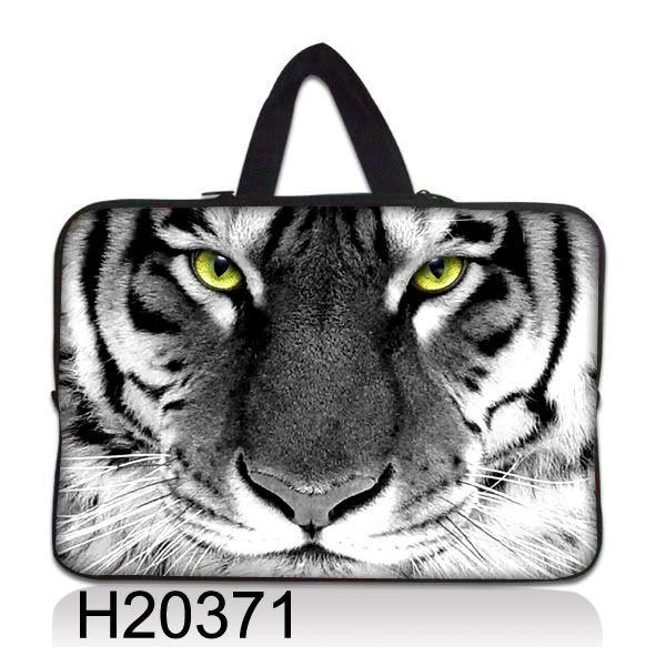 """Taška Huado pro notebook do 17.4"""" Tygr černobílý"""