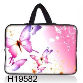 """Taška Huado pro notebook do 17.4"""" Růžový motýlci"""
