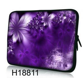 """Pouzdro Huado pro notebook do 17.4"""" Fialové květy"""