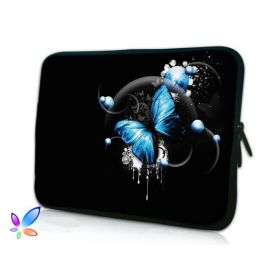 "Pouzdro Huado pro notebook do 17.4"" Modrý motýl"
