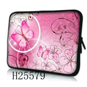 """Pouzdro Huado pro notebook do 17.4"""" Motýlek růžový"""