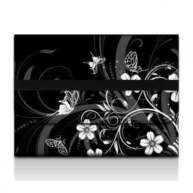 Desky na dokumenty a tablet - Květiny a motýlci
