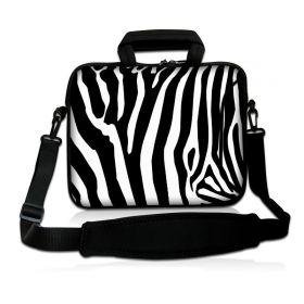"""Taška přes rameno Huado do 13.3"""" Zebra"""