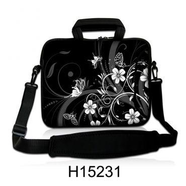 """Taška přes rameno Huado do 13.3"""" Květiny a motýlci"""