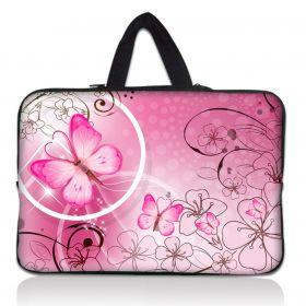 """Taška Huado pro notebook do 17.4"""" Motýlek růžový"""
