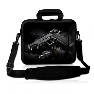 """Taška přes rameno Huado do 15.6"""" Revolver 9 mm"""