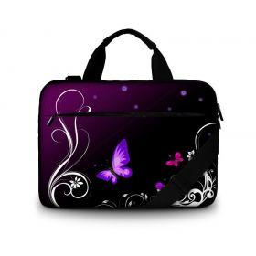 """Brašna přes rameno Huado do 15.6"""" Purpuroví motýlci"""