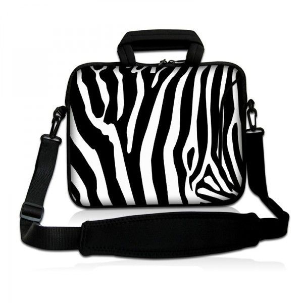 """Taška přes rameno Huado do 17.4"""" Zebra"""
