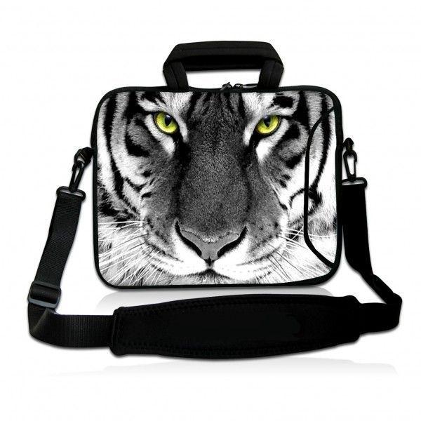"""Taška přes rameno Huado do 17.4"""" Tygr černobílý"""