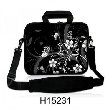 """Taška přes rameno Huado do 17.4"""" Květiny a motýlci"""