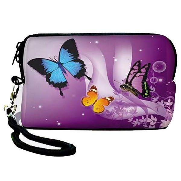 Univerzální pouzdro Huado pro fotoaparát Motýlci ve fialové
