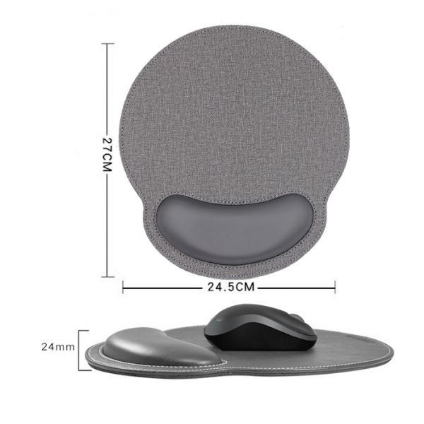 Huado ergonomická podložka pod myš Luxury Šedá