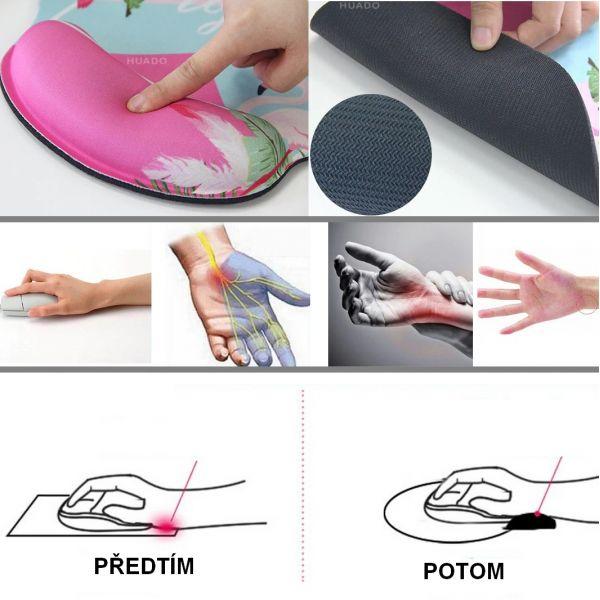 Huado ergonomická podložka pod myš Medúzy