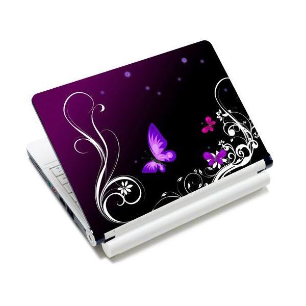 """Samolepka skin Huado pro notebook 12""""-15.6"""" Purpuroví motýlci"""