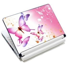 """Samolepka, skin Huado pro notebook 12""""-15,6"""" Růžový motýlci"""