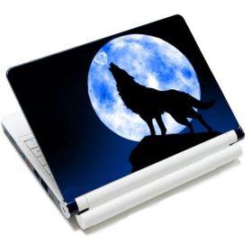 """Samolepka, skin Huado pro notebook 12""""-15,6"""" Vlk vyjící na měsíc"""