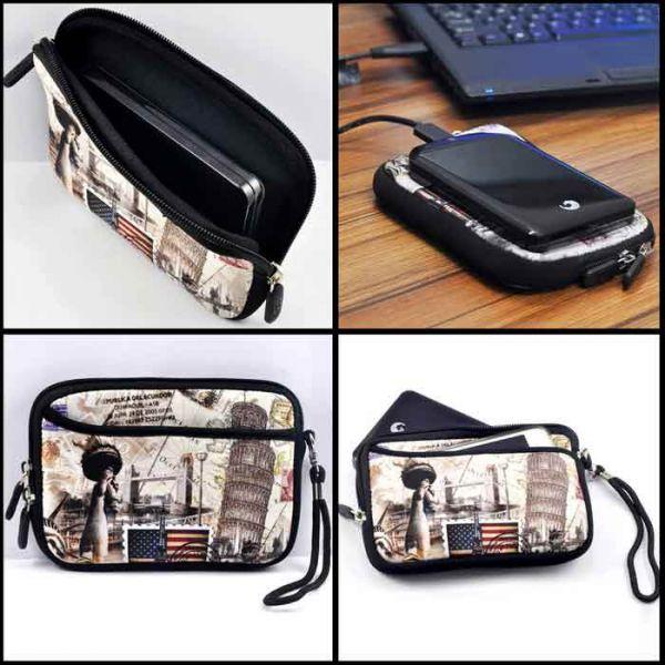 Pouzdro a peněženka Huado na mobil Mops