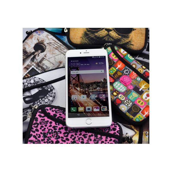 Pouzdro a peněženka Huado na mobil Temný