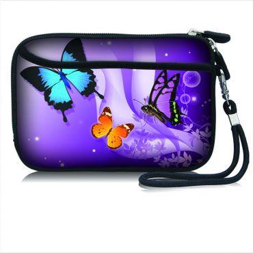 Pouzdro a peněženka Huado na mobil Motýlci ve fialové
