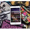 Pouzdro a peněženka Huado na mobil Žirafa