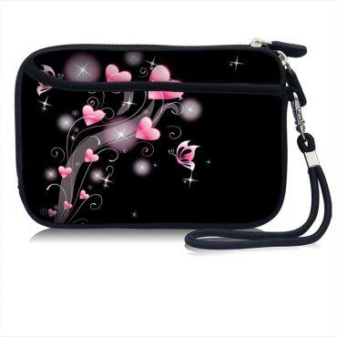 Pouzdro a peněženka Huado na mobil Růžové srdíčka
