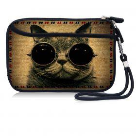 Huado pouzdro na mobil Kočka s brýlemi